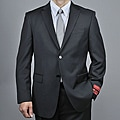 Mantoni Men&#39;s Black Wool 2-button Suit