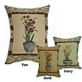 'Potting Flower' Tapestry Throw Pillows (Set of 2)