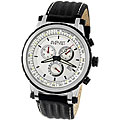 August Steiner Men&#39;s White Dial Quartz Chronograph Watch