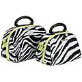 Luca Vergani Zebra/Lime 2-piece Cosmetic Case Set