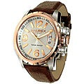 Haurex Italy Aeron Men's Two-tone Leather Watch