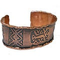 Copper Lobster Motif Cuff Bracelet (Chile)