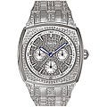 Bulova Men's Silvertone Crystal Day/ Date Watch