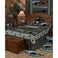 Спальня в стиле кантри способна создать ощущение деревенского быта...