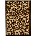 Indoor/ Outdoor Mayaguana Brown/ Natural Rug (2'7 x 5')
