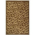 Indoor/ Outdoor Mayaguana Brown/ Natural Rug (6'7 x 9'6)