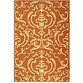 Safavieh Indoor/ Outdoor Bimini Terracotta/ Natural Rug (5'3 x 7'7)