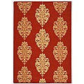 Indoor/ Outdoor St. Martin Red/ Natural Rug (5'3 x 7'7)