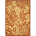Indoor/ Outdoor Andros Natural/ Terracotta Rug (2'7 x 5')