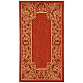 Indoor/ Outdoor Abaco Red/ Natural Rug (2' x 3'7)