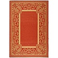 Indoor/ Outdoor Abaco Red/ Natural Rug (5'3 x 7'7)