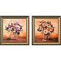 'Glass Vase Bouquet' 2-piece Framed Canvas Art Set