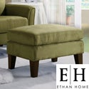 ETHAN HOME Uptown Sage Microfiber Suede Modern Ottoman