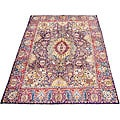 Persian Kashmar Navy/ Red Rug (9'5 x 12'10)