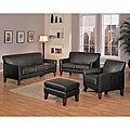 ETHAN HOME Uptown Dark Brown Faux Leather 4-piece Living Room Set