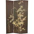 Frameless Natural Bamboo 6-foot Room Divider (China)