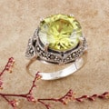 Sterling Silver Marcasite and CZ Ring (Thailand)