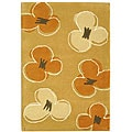 Handmade Soho Daisy Gold New Zealand Wool Rug (2' x 3')