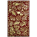 Treasures Red/ Greenish Gold Rug (1&#39;9 x 2&#39;10)