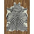 Zebra Hide Polyproplene Rug (5&#39; x 7&#39;)