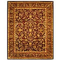 Safavieh Handmade Exquisite Wine/ Gold Wool Rug (8'3 x 11')
