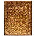 Handmade Kerman Sage/ Gold Wool Rug (9'6 x 13'6)
