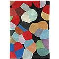 Handmade Stained Glass Multicolor N. Z. Wool Rug (6' x 9')