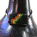 Glass Black/ Rainbow Design Rectangular Bracelet (Chile)