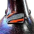Glass Black/ Orange/ Clear Stripe Bracelet (Chile)