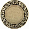 All Weather Indoor/Outdoor Tranquil Natural/Terracotta Rug (5'3 Round)