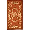 Indoor/ Outdoor Garden Terracotta/ Natural Rug (2'7 x 5')