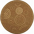 Indoor/ Outdoor Resort Brown/ Natural Rug (5'3 Round)