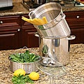 Stainless Steel 8-quart Pasta Cooker