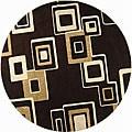 Safavieh Handmade Soho Gala Brown/ Beige New Zealand Wool Rug (8' Round)