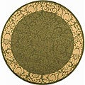 Indoor/ Outdoor Kaii Olive/ Natural Rug (5'3 Round)