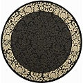 Indoor/ Outdoor Kaii Black/ Sand Rug (5'3 Round)