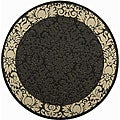Safavieh Indoor/ Outdoor Kaii Black/ Sand Rug (5'3 Round)