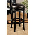 "26"" Dark Brown Bicast Leather Swivel Barstool"