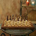 Wood &#39;Clash of Titans&#39; Chess Set (India)