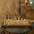 Wood 'Clash of Titans' Chess Set (India)