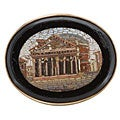 18k Yellow Gold Micro-mosaic Antique Brooch