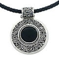 Sterling Silver 'Midnight Beauty' Onyx Necklace (Indonesia)
