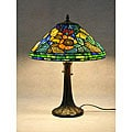Tiffany-style Water Lily Table Lamp