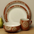 Denby Fire Chilli 4-piece Place Setting