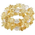 Maddy Emerson Couture Citrine/ FW Pearl Bracelet (13-14 mm)