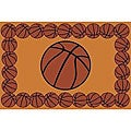 Basketball Fun Rug (3&#39;3 x 4&#39;10)