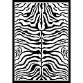 Alexa Zebra Animal Print Black/ White Rug (7'10 x 10'10)