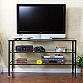 Distressed Metal/ Glass TV Stand