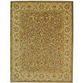 Handmade Antiquities Treasure Brown/ Gold Wool Rug (12' x 18')