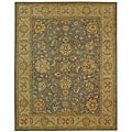 Handmade Antiquities Jewel Grey Blue/ Beige Wool Rug (12' x 15')